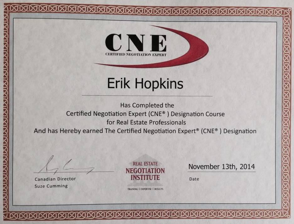 Certified Negotiation Expert (CNE)